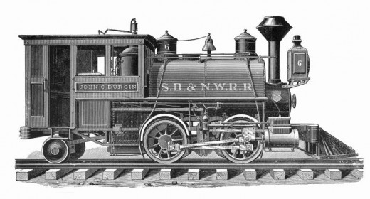 Porter Locomotive from 1884 for the Saginaw Bay and North Western Railroad.