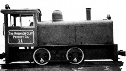 This loco was manufactured for the Robinson Clay Products Company.