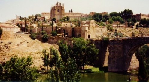 The Tagus River forms a natural moat around much of Toledo.