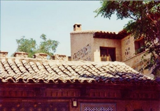Tiled rooftops.