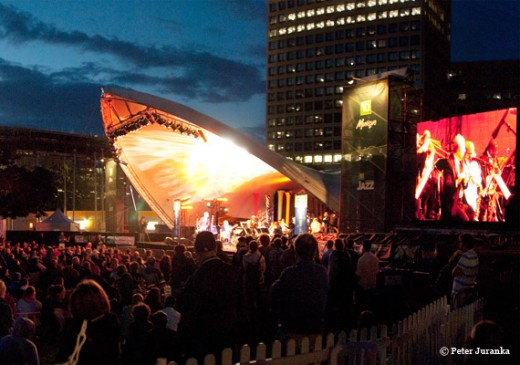 The finest Jazz and Rock musicians from around the world performing in open air venues