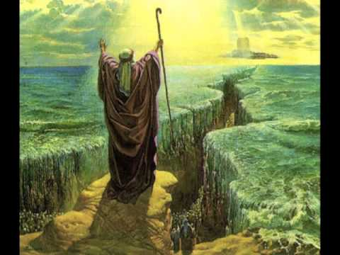 With God leading the Exodus, He parts the Red Sea through Moses, His servant., allowing the Israelites to escape Pharoah's pursuing army and destroying them.