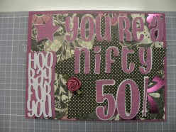 Easy to Make Homemade Cricut Card Idea: 50th Birthday