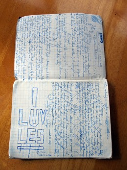 """Old School Book: """"I LUV LES"""""""