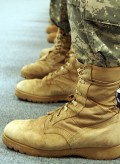 Army issue desert boots.