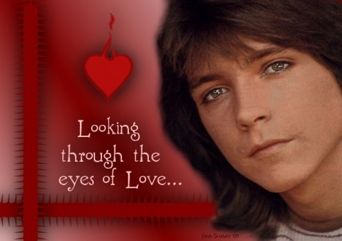 David Cassidy, looking through the eyes of love...apparently
