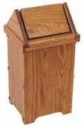 wooden waste bins