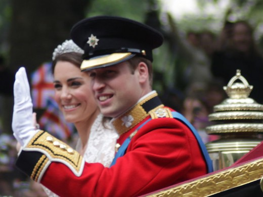 Wedding of Prince William of Wales and Kate Middleton.