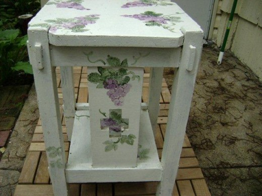 Hand painted end table by Stacie L