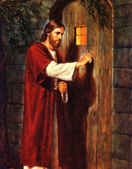 Jesus is knocking on YOUR door.  Please let Him into your heart!