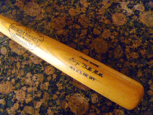 I am trying to make more closet space for my husband.  Won't he be happy I got rid of this old bat?!