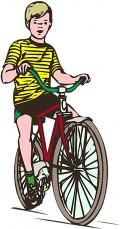 a boy on his bike