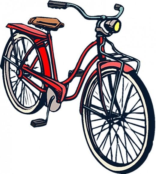 a red girls bike