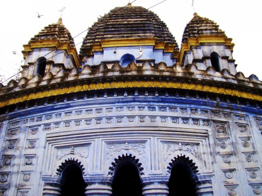 Radha Madhav temple in close up