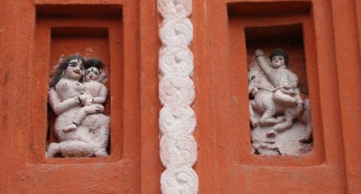 Stucco work of Lakshmi Narayan temple