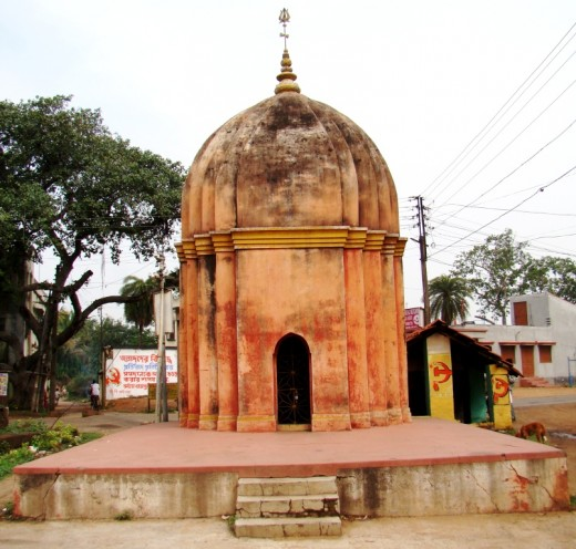 "A small Rekh/Shikhar type Shiva temple with deep ""Ratha"" projections; on the main road, Khandra"