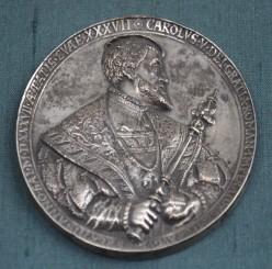Silver medal of Charles V, 'Museum fuer Angewandte Kunst', Frankfurt-am-Main