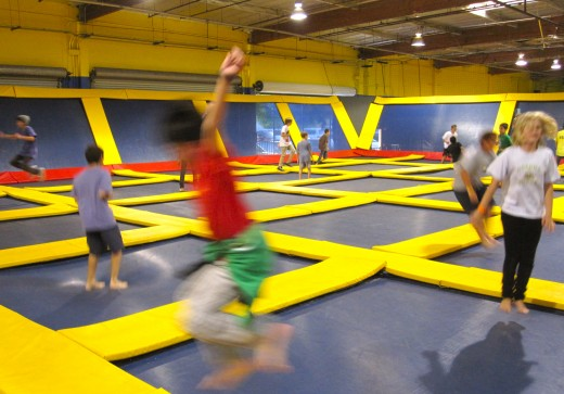 Jumping Around at Sky High in Costa Mesa, CA.