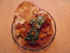 Quick and easy Chicken, Pumpkin and Chickpea Curry
