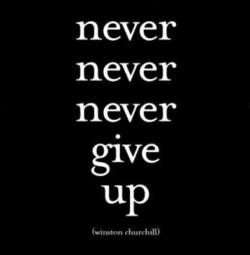 Winston Churchill understood the importance of perseverance.