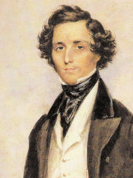 Felix Mendelssohn Bartholdy at the age of 30 in London; By Creator:James Warren Childe (watercolor painting) [Public domain], via Wikimedia Commons