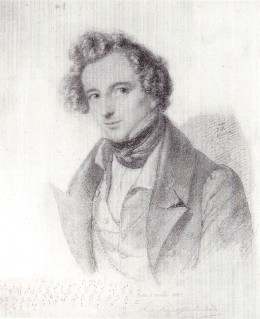 Felix Mendelssohn Bartholdy; By Eduard Bendemann [Public domain], via Wikimedia Commons