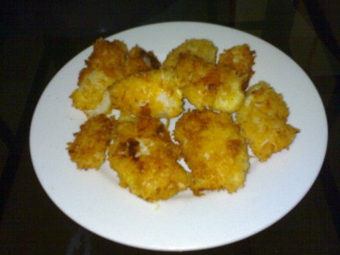 my own version of Fish fillet...made more tempting with cheese! Yum!!