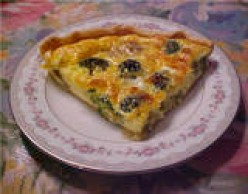 A Quick & Easy Mushroom & Broccoli Quiche Recipe