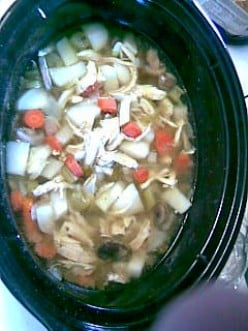 Crockpot Chicken and turnips