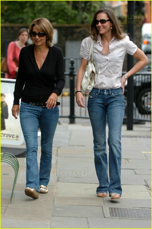 Kate Middleton out shopping with her mum.