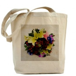 Grand Cayman Flowers Tote Bag