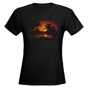 Grace Bay Sunset Women's Dark T-Shirt
