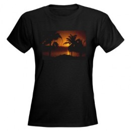 Grace Bay Sunset Women's Dark T-Shirt