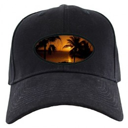Grace Bay Sunset Black Cap