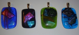 Glass fused pendants by Groupon