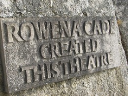 Rowena's memorial.