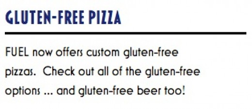 Gluten Free Pizza?? AND BEER???? Whoa! Whopper!