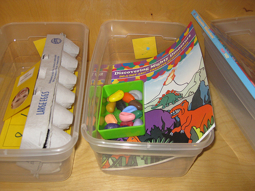 A workbox filled with fun activities.