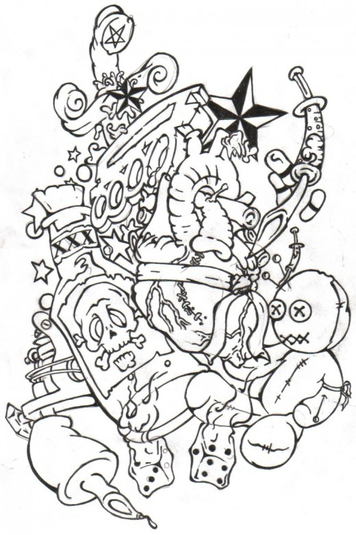 Present day tattoo drawing is done through computerized tattoo ...