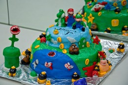 Mario Birthday Cake Handmade With Fondant Made by Kandye Garner