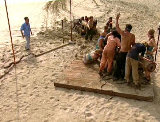 "Scene from ""Survivor"""