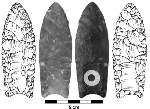 For almost all of human history, this was the epitome of technological development. These extremely sharp and effective points were made of volcanic glass.