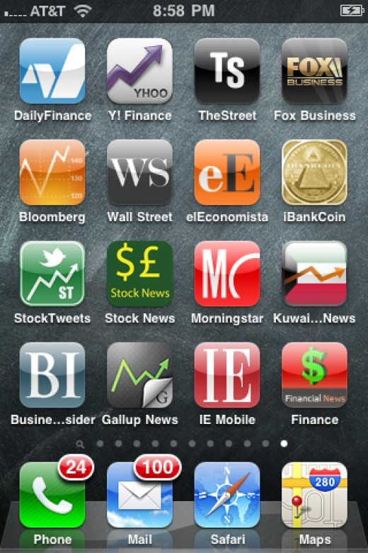 Free iPhone Stock Investing and Business News Apps