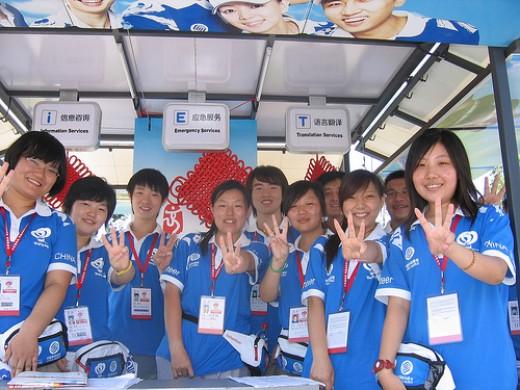 Beijing,China - Olympic Games Volunteers