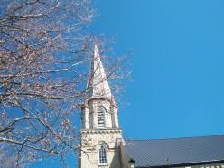 Tower detail, St Andrew's, Beaverton