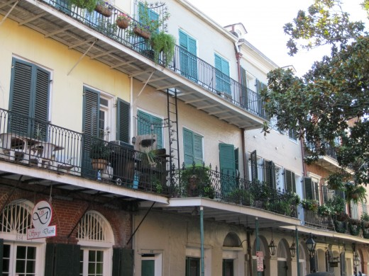 the beautiful balconies of the French Quarter