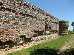 South wall, Burgh Castle
