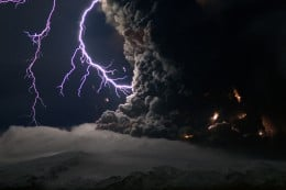 On the very same day of the expected rapture, a huge volcanic explosion occurred in Iceland that according to some accounts, is the biggest in a century.