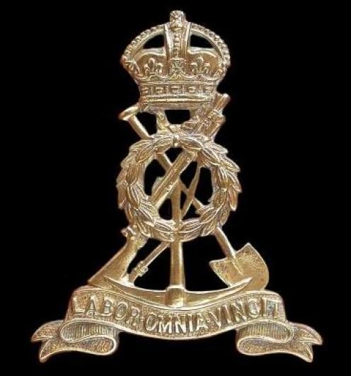 The Pioneer Corps cap badge