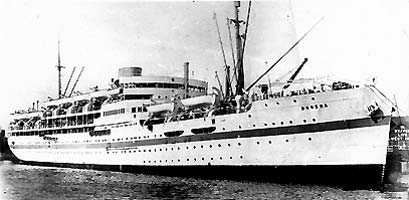 The troopship Dunera